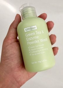 Green tea and enzyme powder wash bottle